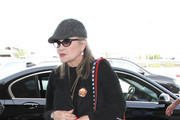 Carrie Fisher is seen at LAX on October 7, 2016.