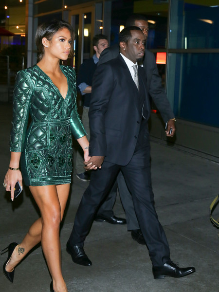 Cassie Ventura and Sean P DIDDY Combs at ArcLight Theatre