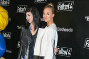 Briana Cuoco and Kaley Cuoco are seen arriving at the 'Fallout 4' video game launch event.