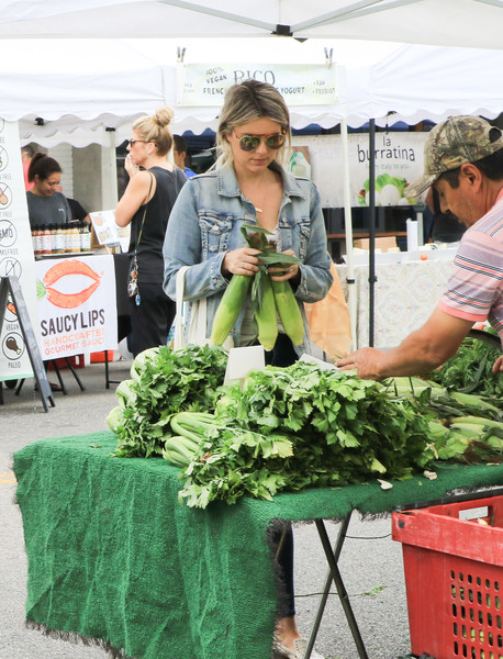 Celebrities At Farmer's Market In Los Angeles