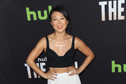 Ali Ahn is seen attending the premiere of Hulu's 'The Path' at ArcLight Theatre.