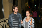Drew Seeley and Amy Paffrath are seen at the theatre on April 13, 2017.