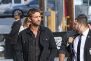 Chace Crawford Arrives at the 'Jimmy Kimmel' Show