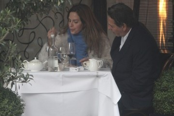 Charles Saatchi Trinny Woodall and Charles Saatchi Have Lunch in London