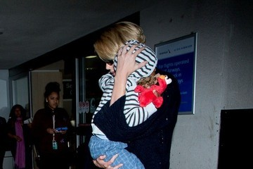Charlize Theron Charlize Theron and Jackson Theron at LAX