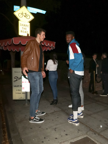 Jakob Poeltl Outside Delilah Nightclub In West Hollywood