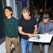 Chord Overstreet Harry Shum Jr. Outside The Laemmle Music Hall In Beverly Hills