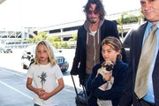 Chris Cornell and family seen at LAX