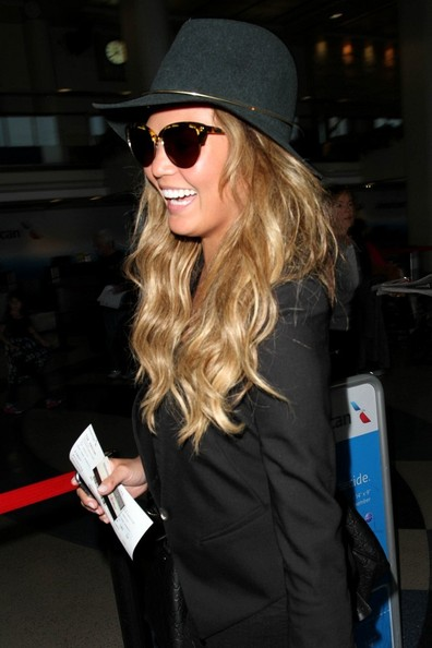 Chrissy Teigen seen at LAX.