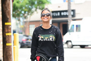 Christina Milian is seen in Los Angeles, California.