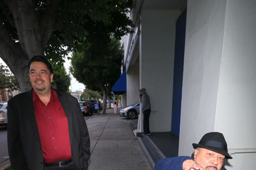 Chuy Bravo Lou Pizarro Visits The Writer's Guild Theatre In Beverly Hills