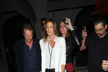 Cindy Crawford Rande Gerber and Cindy Crawford at Craig's