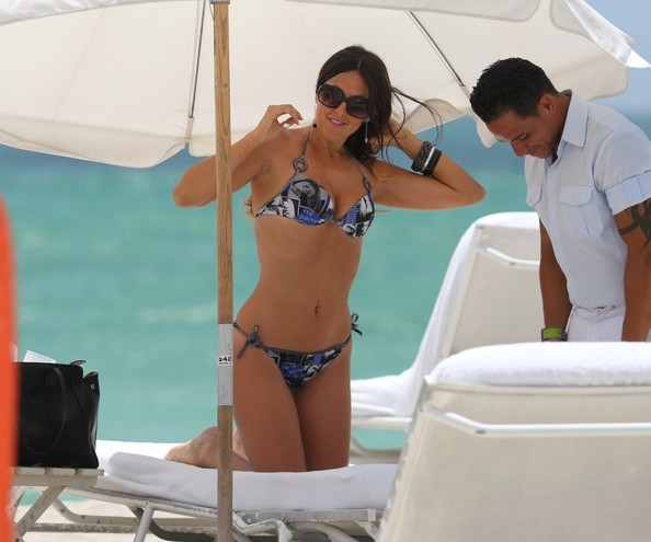 Claudia Romani at the Beach