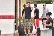 Convict Model Jeremy Meeks With Friends in Malibu
