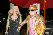 Corey Feldman and Courtney Anne Mitchell are seen in Los Angeles, California on April 19, 2018.