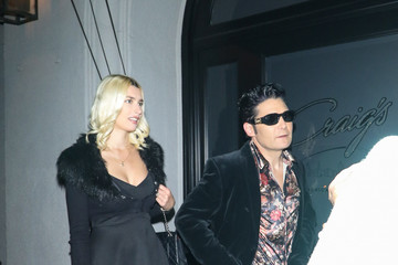 Corey Feldman Courtney Anne Mitchell Outside Craig's Restaurant In West Hollywood