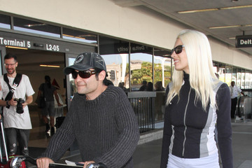 Corey Feldman Corey Feldman and Courtney Anne Mitchell Are Seen at LAX