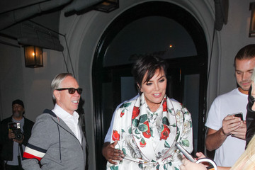 Corey Gamble Tommy Hilfiger, Kris Jenner and Corey Gamble Hit Craig's Restaurant in West Hollywood