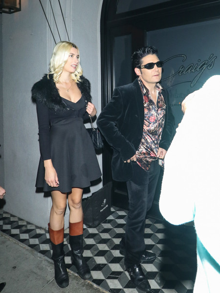Courtney Anne Mitchell Outside Craig's Restaurant In West Hollywood