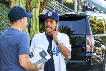 Danny Trejo Danny Trejo Is Seen At The L.A. Dodgers vs. Milwaukee Brewers Game