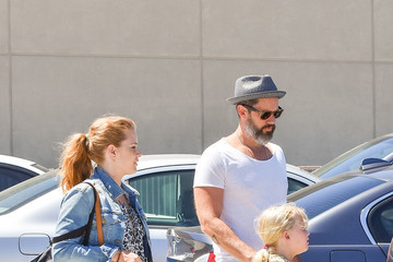 Darren Le Gallo Amy Adams and Her Family Are Seen Out and About