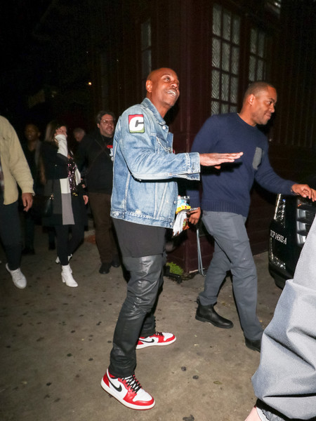 Dave Chappelle Outside Peppermint Nightclub In West Hollywood