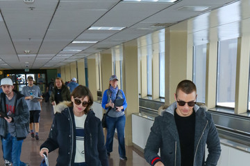Dave Franco Celebrities Are Seen at Salt Lake City Airport