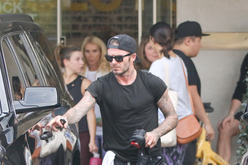 David Beckham David Beckham Visits Soul Cycle