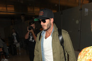 David Beckham Arrives at LAX