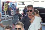 David Beckham and Family at LAX