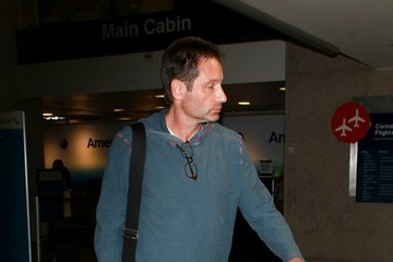 David Duchovny David Duchovny Arrives at LAX
