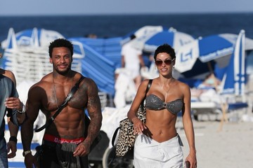 David McIntosh Nicole Murphy and David McIntosh at the Beach
