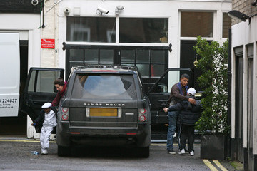 Rocco Ritchie David and Rocco Return to Madonna's London home