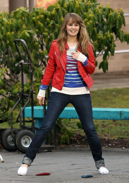 Disney star Debby Ryan shoots scenes with co-star Jean-Luc Bilodeau '16 Wishes'.
