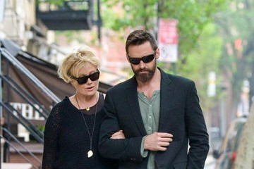 Deborra-Lee Furness Hugh Jackman and His Wife Take a Stroll