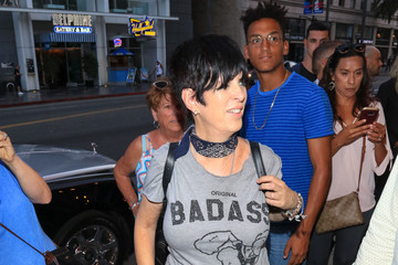 Diane Warren Kenneth Edmonds Outside Pantages Theatre In Hollywood