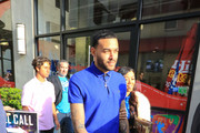 Don Benjamin And Liane V Outside Hollywood Highland Center