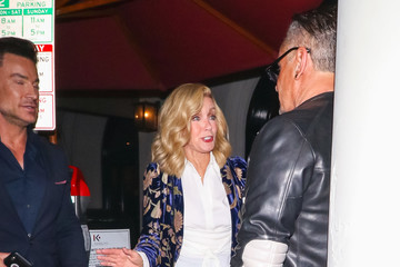 Donna Mills Donna Mills Outside Craig's Restaurant In West Hollywood