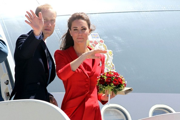 Prince William and Kate Middleton at the Airport