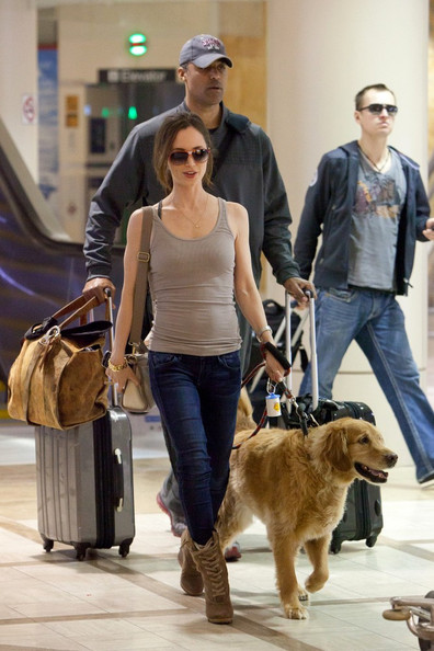 Photo of Eliza Dushku & her Dog Lax