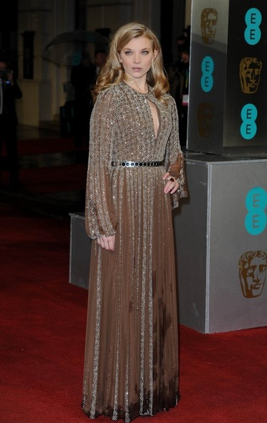 10th February, 2013. The EE British Academy Film Awards (BAFTAs), held at the Royal Opera House, Covent Garden, London.Pictured, Natalie Dormer.