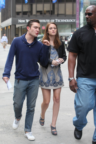 Ed Westwick in Ed Westwick and Leighton Meester Walk to ... Phoebe Tonkin And Ed Westwick