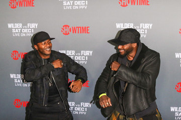 Edwin Hodge Tyson Fury At 'Fury vs. Wilder' Fight At The Staples Center