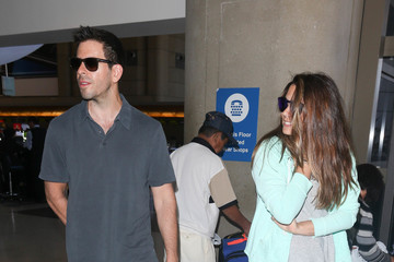 Eli Roth Eli Roth And Lorenza Izzo Are Seen At LAX