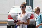 Elisabetta Canalis is seen in Los Angeles, California on Sept. 17, 2017.
