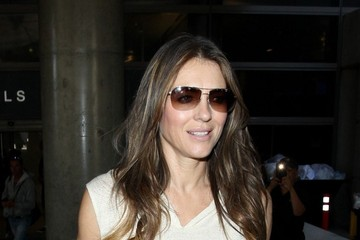 Elizabeth Hurley Elizabeth Hurley Arrives at LAX