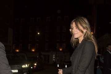 Elizabeth Hurley Liz Hurley and David Yarrow Enjoy a Night Out