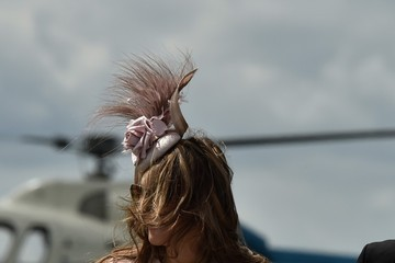 Elizabeth Hurley Liz Hurley at the Epsom Derby