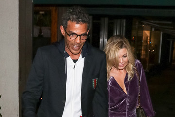 Ellen Pompeo Chris Ivery Ellen Pompeo and Chris Ivery Outside Madeo Restaurant in West Hollywood