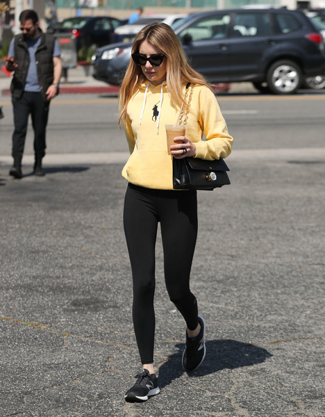 Emma Roberts Goes For A Walk In Los Angeles